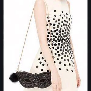 kate spade dress the part mask clutch bag nwot